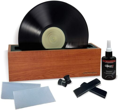 Vinyl Record Cleaning Machine Complete Album Spin Cleaner Kit w/Cleaning Liquid