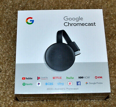 Google Chromecast (3rd Generation, latest version) Wi-Fi Media Streamer - Black