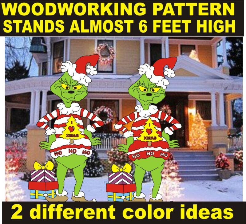 GRINCH IN UGLY SWEATER YARD ART PATTERN WOOD WORKING patternsrus