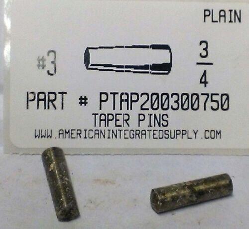 "#3X3/4 TAPER PIN STEEL PLAIN .219"" LARGE END DIAMETER (10)"