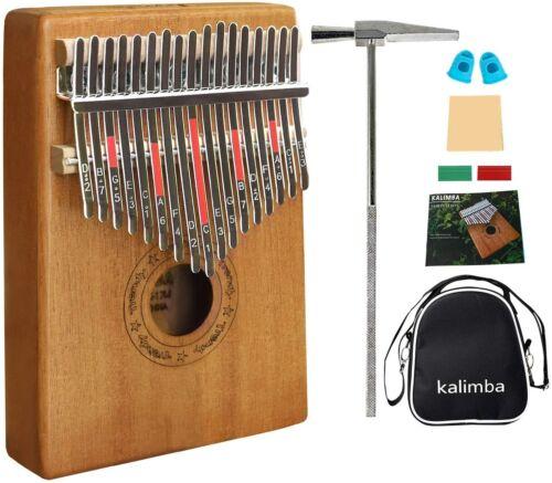 African Kalimba Mahogany Mbira17 key Thumb Piano Beginner Kit Musical Instrument