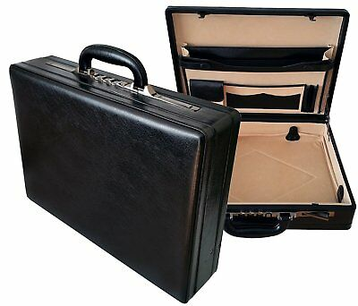 Genuine Leather Professional Expandable Executive Attache Briefcase Bag Case