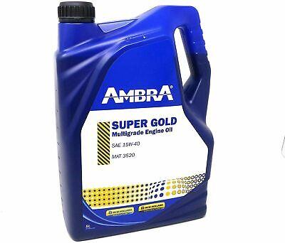 5 LT OLIO MOTORE AMBRA SUPER GOLD 15W40 PER TRATTORI E MACCHINE AGRICOLE