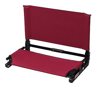 Stadium Seats For Bleachers Extra Wide Chair W/ Back Support Maroon Best (Best Chair For Back Support)