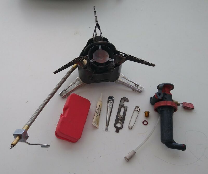 MSR XGK EX Extreme Condition Multi Fuel Backpacking Camp Stove  + parts USMC