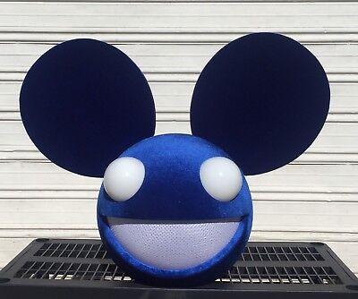 Royal Blue Deadmau5 Inspired Mask Head Costume Cosplay Rave Dj - Deadmau5 Cosplay
