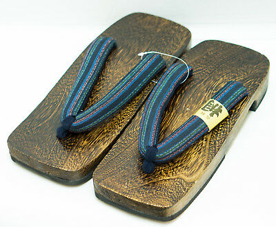 [Japan Made] Mens Geta Paulownia Wood Sandals Traditional 28cm, Basic 0096