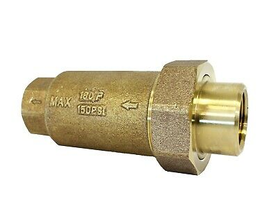 New Npt 34 In Dual Check Valve Water Backflow Preventer Union Brass Lead Free