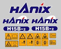Hanix H15b Scavatrice Decal Sticker Set Completo -  - ebay.it