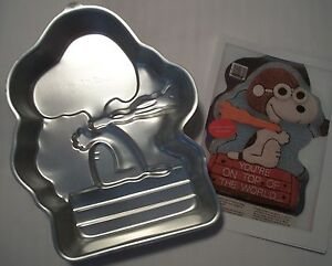Snoopy Cake Pan Instructions