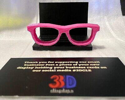 Pinkblack Eyeglass Business Card Holder Optician Optometrist Optical