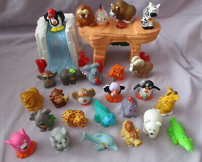 F-P LITTLE PEOPLE A To Z ALPHABET FUN  26  ZOO ANIMALS + ROCK CAVE & WATER SLIDE
