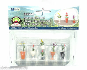 JTT-SCENERY-95568-ASSORTED-POTTED-FLOWER-PLANTS-2-O-SCALE-1-1-2-034-HIGH-6-PK