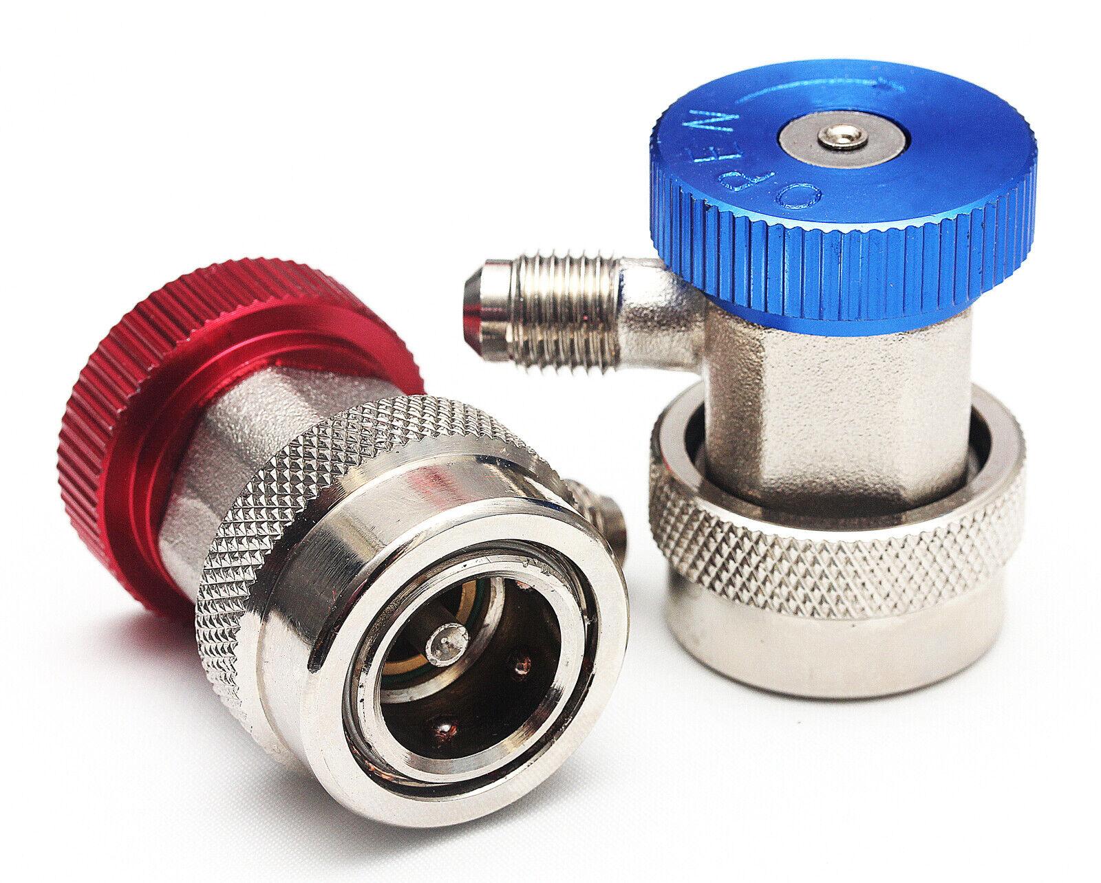 2tlg Adapter KFZ Klima Schnellkupplung Klimaanlage R134A Hochdruck Niederdruck Q