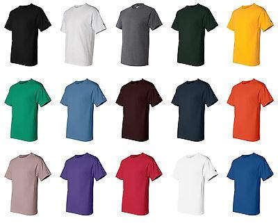 CHAMPION MEN'S NEW SHORT SLEEVE 100% COTTON TAGLESS T-SHIRT S-2XL 3XL T525  Black Xlt Shirt