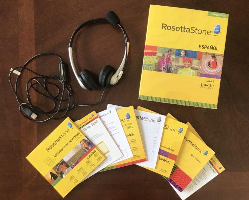 Rosetta Stone Spanish Latin America Level 1 Homeschool