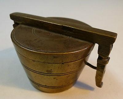 Apothekergewichte Bechergewichte Topfgewichte Messing Gewichte 7 teilig um 1800