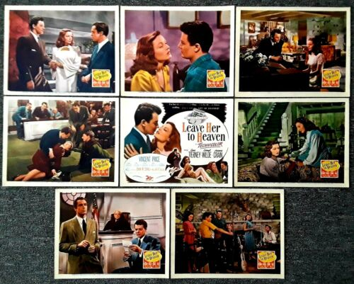 LEAVE HER TO HEAVEN--1945 Movie Lobby Card Set of 8--Gene Tierney, Cornel Wilde