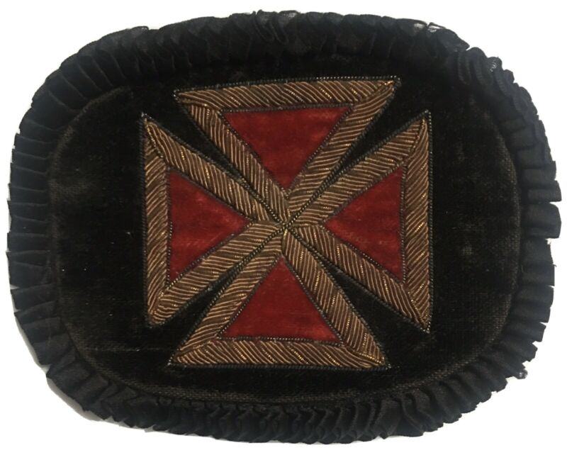 Knights Templar Teutonic Cross Grand Master  Embroidered Bullion Masonic Patch