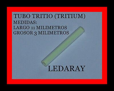 TUBO DE TRITIO (LUZ COLOR VERDE) 3mm x 11mm