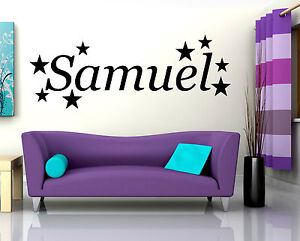 stars name wall art quote sticker decal vinyl custom childs bedroom