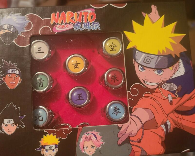 10 pcs Naruto Rings NARUTO Akatsuki Cosplay Member