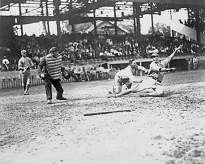 "1912 Photo, Baseball antique, Catcher, Umpire, 14""x11 MLB History, Vintage Sport"