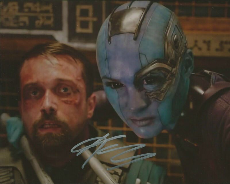 GFA Guardians of the Galaxy * KAREN GILLAN * Signed 8x10 Photo MH3 PROOF COA