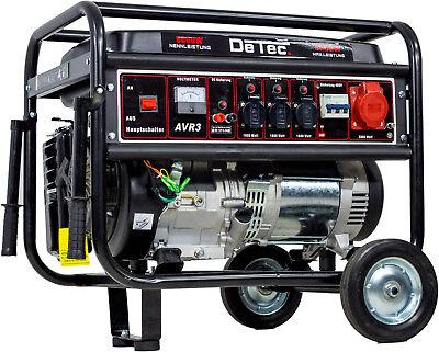 Stromerzeuger Benzin Notstrom Aggregat Stromgenerator 5,5kW Starkstrom 400V+230V
