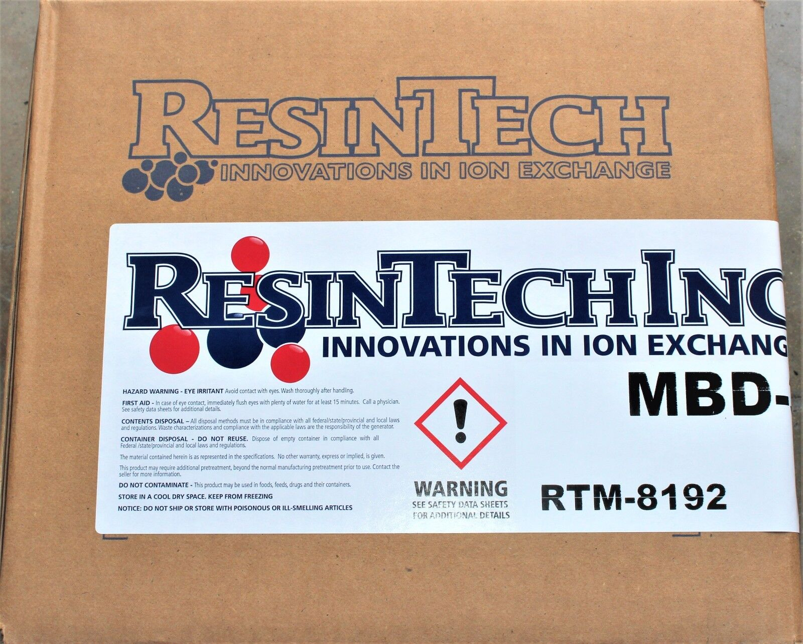 DI 0 TDS 4 LBS DI Resin RESINTECH MBD-30 Color Changing Mixed Bed Deionization