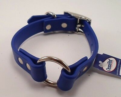 "112A - ZETA DOG COLLAR 16"" BLUE / OMNI PET - MADE IN THE USA"