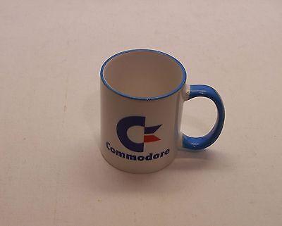 Commodore Computer Logo Mug - Blue Handle and Rim