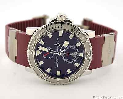 Ulysse Nardin Maxi Marine Diver Automatic Chronometer Burgundy 263-33-3/95
