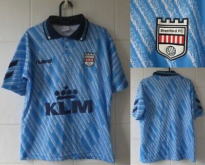 1992-1994 Brentford FC Hummel Short Sleeve Away Football Shirt Youth image