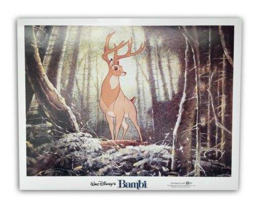 """Bambi"" Original 11x14 Authentic Lobby Card Poster Photo 1982 Walt Disney #2"