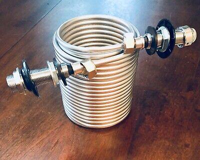 Beer Draft Tap Kegerator Faucet Jockey Box Cooling Coil 50 Feet Stainless Steel