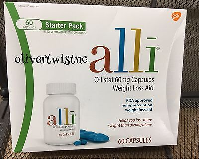 NEW ALLI ORLISTAT 60 CAPSULES 60MG FACTORY SEALED BOX EXP AUGUST 2020 for sale  Shipping to India
