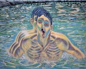 The Swimmer - Original Surreal Portrait by Sergio Ianniello Jindalee Brisbane South West Preview