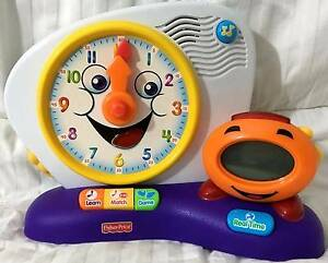 FISHER-PRICE FUN-2-LEARN TEACHING CLOCK LEARNING SYSTEM Epping Ryde Area Preview