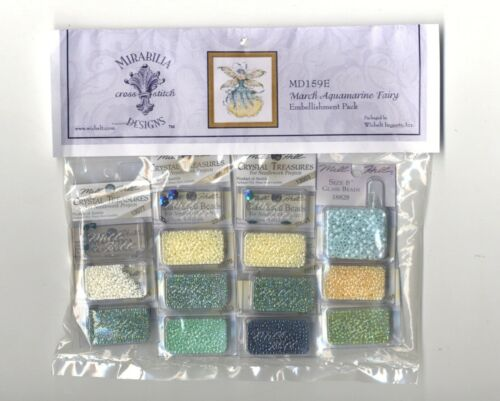 Cross Stitch ~ Mirabilia Embellishment Pack for March Aquamarine Fairy #MD159E