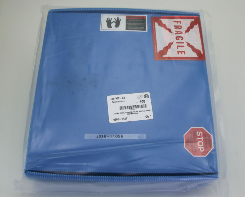 11026 Applied Materials Cover Ring,qtz,thick,45 Deg,63ra,200mm (new) 0200-01271