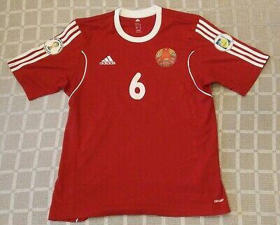 Match worn shirt Belarus national team #6 Sitko FIFA World Cup 2014 Qualifiers image