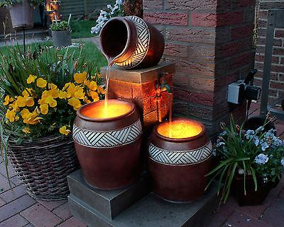 deko zier garten spring brunnen solar led beleuchtung. Black Bedroom Furniture Sets. Home Design Ideas