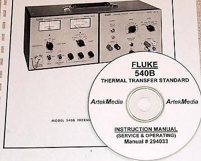 Fluke 540b Xfer Standard Instruction Opsserv Manual