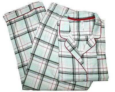 NEW Gilligan O'Malley 2-Piece Flannel Pajama Sleepwear Set, Plaid, Plus Size 3X ()