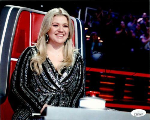 "Kelly Clarkson ""The Voice"" Singer Autographed 8x10 Photo JSA"