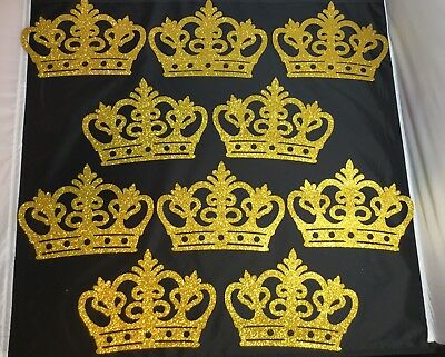 10 pcs Baby Shower Royal Prince/ Princess Foam gold crown Party Decorations