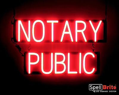Spellbrite Ultra-bright Notary Public Sign Neon Look Led Performance