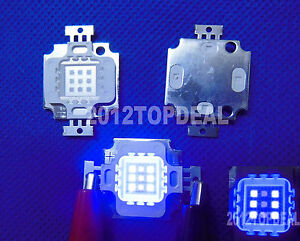 27-30Vdc-10W-Actinic-Hybrid-UV-395NM-Royal-Blue-equal-420-430nm-High-Power-LED