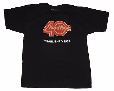 Official Hard Rock Cafe 40th Birthday Bash Orlando FL Black Men's T-shirt Size L